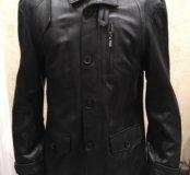 Новая кожаная куртка мужская размер М Россия