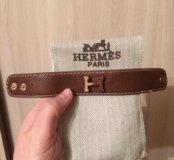 Кожаный браслет HERMES
