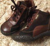 Кожаные ботиночки на девочку 25