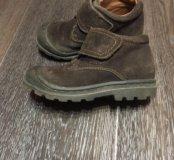 Ботинки деми замша