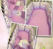 Бортики подушки, одеяло+подарок