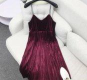 Модное бархатное платье 44-46