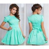 Платье с коротким рукавом 9136