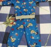 Домашний махровый костюм ( б/ у), можно как пижаму