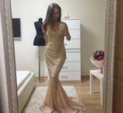 Платье новое вечернее золотое jovani