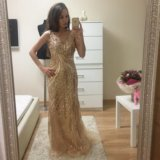 Платье новое jovani в золоте