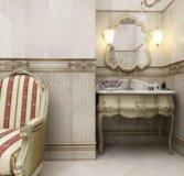 Плитка в ванную, плитка, напольная, мозаика