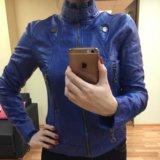 Куртка синяя из кож зама  р-р 40-42