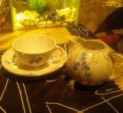 Чайная пара.+Молочник.