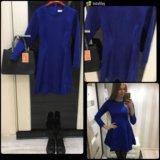 Замшевое платье, тренд . Синие