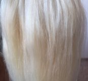 Наращивание волос блонд