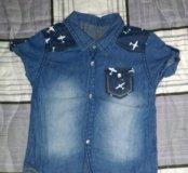 Джинсовая рубашка 86