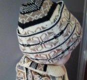 Шапочка с шарфом