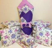 Комплект в кроватку + одеялко на выписку