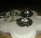 Серьги серебряные с камнем