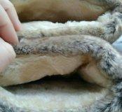Новые зимние сапожки на меху.