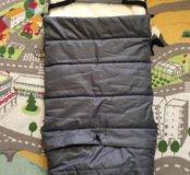 Конверт мешок в коляску на овчине 2 в 1 трансформ
