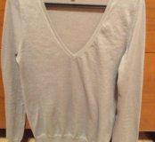 Серебряный шёлковый свитерок Massimo Dutti