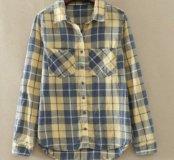 Новая рубашка тонкая байка 44,46