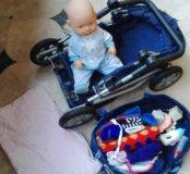 Кукла Пупс с коляской