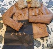 Куртка ZARA кожзам размер 44