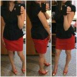 Блузка юбка туфли