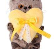 Кот Басик бэби с жёлтый сердечком