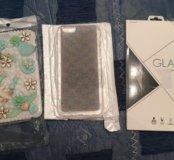 2 чехла и защитное стекло на IPhone 6/6s
