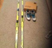 Лыжи беговые Fischer р170 ботинки на 37-37,5