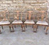 Комплект старинных стульев Чиппендейл