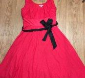 Платье из шёлка и хлопка