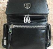 Рюкзак мужской Philipp Plein кожаные отделки.