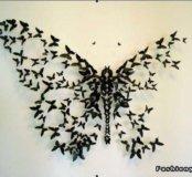 Вырубка бабочек для оформления интерьера / скрапа