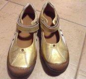 Новые золотые кожаные туфли Bisgaard, 22,5 см