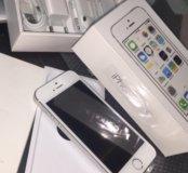 iPhone 5S 32GB silver как новый