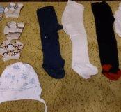 Носочки, колготки и чепчик