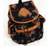 Рюкзак с бабочками BUTTERFLY в винтажн.стиле,синий