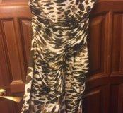 Леопардовое платье mango