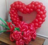 Надписи, сердечки, валентинки из воздушных шаров