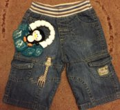 Детские джинсы (бермуды)