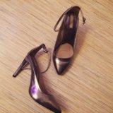 Туфли лодочки серебрянные