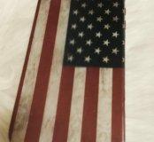 Чехол силиконовый для iPhone 4, 4s флаг США