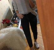 TOPSHOP Mom jeans W26L30 темно-серые джинсы