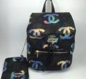Женский новый кожаный рюкзак брендовый
