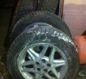 4 диска + шины зима шипы 195/65/r15