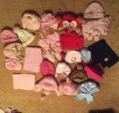 Шапки и шарфы на 3-4 года 5-6 лет
