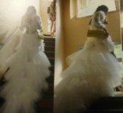Красивое выпускное свадебное платье