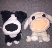 Мягкие игрушки собачка и овечка
