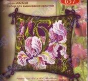 Набор для вышивания Риолис. Подушка с ирисами