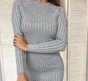 Платье Лапша с люрексом LUX длинная